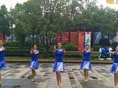 漓江飞舞广场舞《水蓝蓝》原创舞蹈 附正背面口令分解教学演示