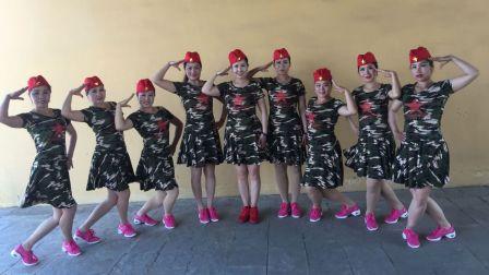 美久广场舞《万树繁花》单人四步水兵舞 附正背面口令分解教学演示
