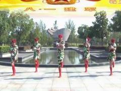 楠楠广场舞《青春集合在军旗下》原创舞蹈 附正背面口令分解教学演示