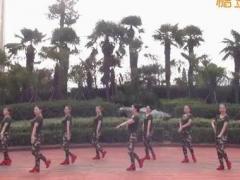 美久广场舞《当兵的历史》原创现代舞 附正背面口令分解教学演示