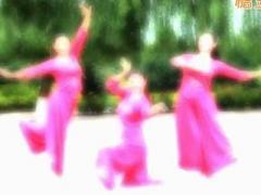 云裳馨悅廣場舞《愿做鴛鴦不羨仙》原創古典舞 附正背面口令分解教學演示