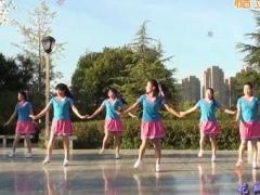 茉莉广场舞《花桥流水》原创健身舞 附正背面口令分解教学演示