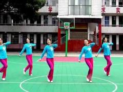 沅陵燕子广场舞《等待你的爱》原创健身操 附正背面口令分解教学演示