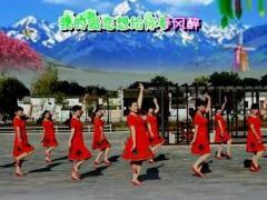 陈瑶湖天使广场舞《风雨醉情缘》原创舞蹈 团队正背面演示