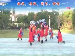 楠楠廣場舞《中國歌最美》9人變隊形花球舞 口令分解動作教學演示