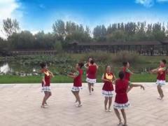 美久广场舞《爱情在草原》原创圈圈舞 正背面演示及口令分解动作教学