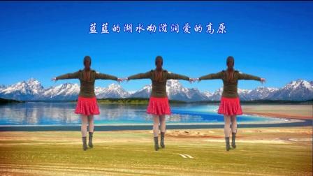 武安市东寺庄广场舞《水蓝蓝》原创单人水兵舞 正背面演示