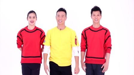 王廣成廣場舞《福門開好運來》原創舞蹈 正背面口令分解動作教學演示