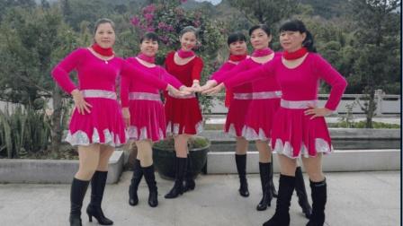 上砂姐妹广场舞《自然美》原创舞蹈 附正背面口令分解教学演示