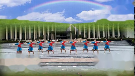 江西胭脂廣場舞《為你等待》完整版演示及分解教學演示