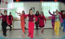 小丫健身舞《张灯结彩》队员练舞随拍