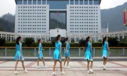 俏木蘭廣場舞《我愛恰恰》原創排舞視頻 團隊演示