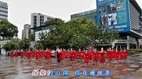 畅春园广场舞《鼓与花》原创舞蹈 团扇舞 正面演示