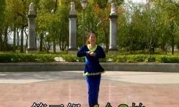 千丝万柔广场舞《落花情》原创现代舞 背面教学演示