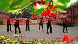 山西曲沃高陽廣場舞《小蘋果》編舞廖弟 正背面演示