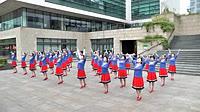 红舞鞋广场舞《蒙古丽人》编舞艺子龙 团队演示