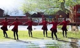 山西曲沃高陽廣場舞《紅紅的中國》編舞劉榮 團隊演示