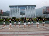 俏木蘭廣場舞《我想》原創舞蹈 團隊正背面演示