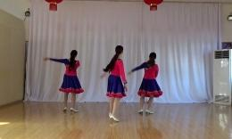 洪湖舞之恋广场舞《幸福的歌》编舞艺莞儿 团队演示