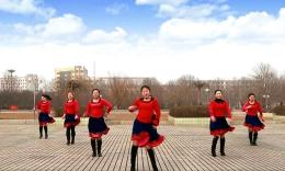 云裳馨悅廣場舞《唐古拉風》原創舞蹈 排練視頻