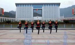 俏木蘭廣場舞《鴨梨大》編舞俞祝琴 團隊正背面演示