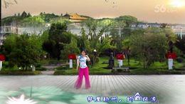 杭州千岛湖心语广场舞《梦里扬州》编舞廖弟 正背面演示